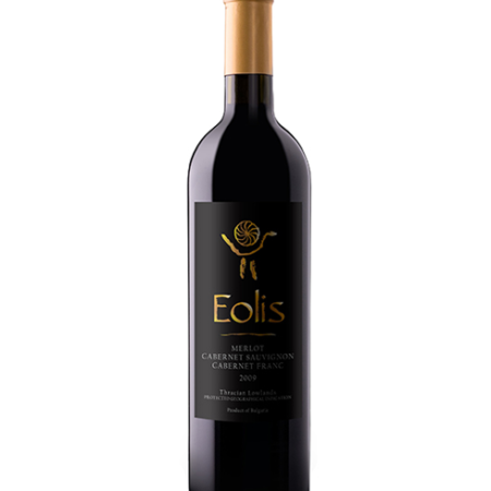 Eolis Merlot and Cabernet Sauvignon and Cabernet Franc wine bottle